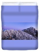 Mount Liberty Blue Hour Panorama Duvet Cover