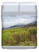 Mount Mansfield Spring Snow Duvet Cover