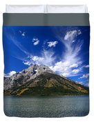 Mount Moran From Leigh Lake Duvet Cover