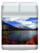 Mount Moran In The Fall Duvet Cover