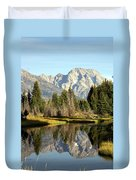Mount Moran Reflections Duvet Cover