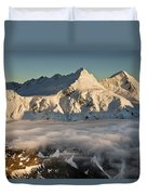 Mount Pollux And Mount Castor At Dawn Duvet Cover