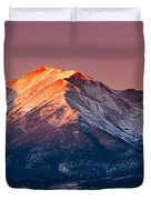 Mount Princeton Moonset At Sunrise Duvet Cover