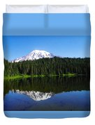 Mount Rainer Reflecting Into Reflection Lake Duvet Cover