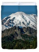 Mount Rainier - Cowilitz Chimneys  Duvet Cover