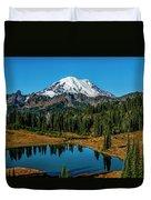 Natures Reflection - Mount Rainier Duvet Cover