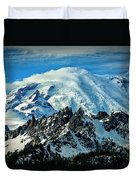 Early Snow - Mount Rainier  Duvet Cover