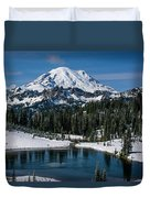 Mount Rainier - Tipsoo Lake Duvet Cover