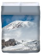 Mount Rainier Behind Clouds 3 Duvet Cover