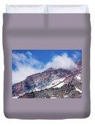 Mount Rainier Closeup Duvet Cover