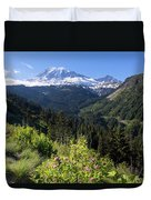 Mount Rainier From Scenic Viewpoint Duvet Cover