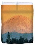 Mount Rainier, Sunset Duvet Cover