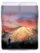 July In Washington, Mount Rainier National Park Duvet Cover