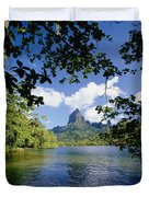 Mount Rotui From Across Opunohu Bay Duvet Cover
