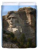 Mount Rushmoore Detail - Abraham Lincoln  Duvet Cover