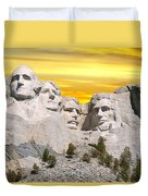 Mount Rushmore 11 Digital Art Duvet Cover