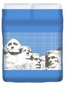 Mount Rushmore - Blue Duvet Cover