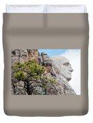 Mount Rushmore George Washington Landscape Duvet Cover