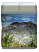 Mount Saint Helens Caldera Duvet Cover