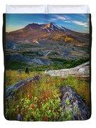 Mount Saint Helens Duvet Cover