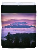 Mount Saint Helens Sunset Duvet Cover