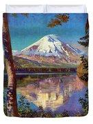 Mount Saint Helens Vintage Travel Poster Restored Duvet Cover