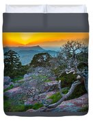 Mount Scott Sunset Duvet Cover