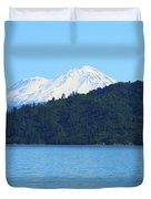 Mount Shasta And Shasta Lake Duvet Cover