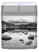 Mount Shasta From Lake Siskiyou In California Duvet Cover