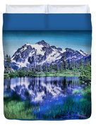 Mount Shuksan And Picture Lake Duvet Cover