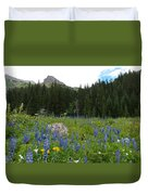 Mount Sneffels Lupine Landscape Duvet Cover