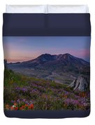 Mount St Helens Spring Colors Duvet Cover