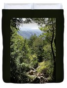 Mount Tamalpais Forest View Duvet Cover