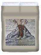 Mount Vesuvius, 1665 Duvet Cover