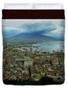 Mount Vesuvius Naples It Duvet Cover