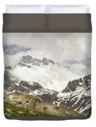 Mount Viso In The Clouds Duvet Cover