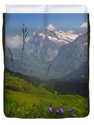Mount Wetterhorn And The Grindelwald Duvet Cover