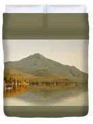 Mount Whiteface From Lake Placid Duvet Cover by Albert Bierstadt