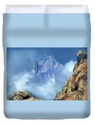 Mount Whitney Clearing Storm Eastern Sierras California Duvet Cover