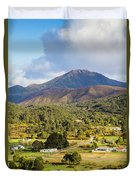 Mount Zeehan Valley Town. West Tasmania Australia Duvet Cover