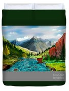 Mountaian Scene Duvet Cover