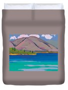 Mountain And Pines Duvet Cover