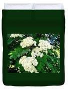 Mountain Ash Blossoms Duvet Cover