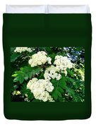 Mountain Ash Blossoms Duvet Cover