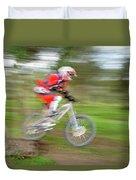 Mountain Bike Rider Duvet Cover