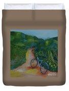 Mountain Biking In The Santa Monica Mountains Duvet Cover