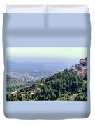 Mountain City Dharamshala Duvet Cover
