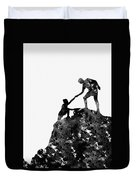 Mountain Climbers-black Duvet Cover