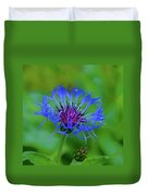 Mountain Cornflower Duvet Cover by Byron Varvarigos