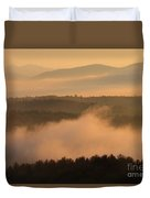Mountain Dawn Fog Duvet Cover